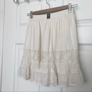 NEW A&F Embroidered Mini Skirt